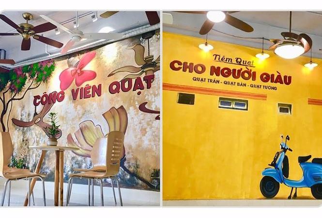 Showroom quạt trần trang trí Hà Nội