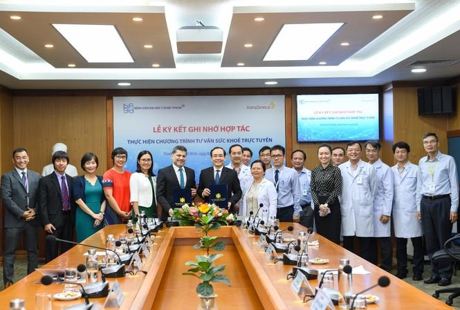BV ĐH Y Dược TP.HCM và Công ty AstraZeneca Việt Nam hợp tác tư vấn sức khỏe trực tuyến