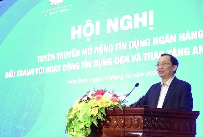 Đồng chí Đào Minh Tú - Phó Thống đốc thường trực NHNN phát biểu khai mạc hội nghị