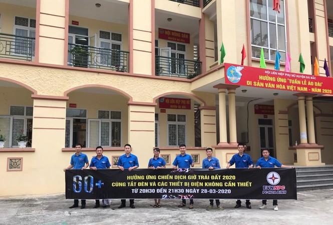 Đoàn Thanh niên Điện lực Hòa Bình hưởng ứng Giờ Trái đất 2020