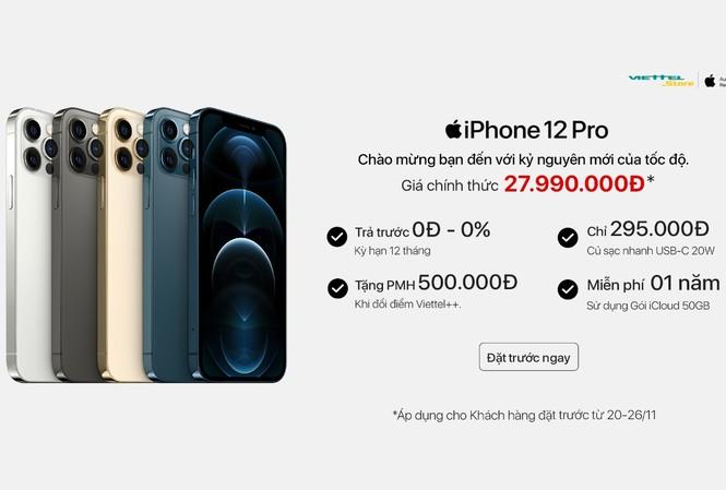 Chỉ còn 1 ngày đặt trước iPhone 12 giá ưu đãi và nhận 50GB iCloud tại Viettel Store