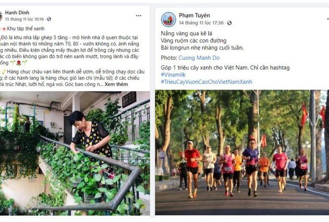 """Những câu chuyện đời thường nhưng rất dễ thương như """"Khu tập thể xanh"""" hay """"Đường chạy bộ giữa hàng cây"""" được chia sẻ trong các bài đăng tham gia chiến dịch"""