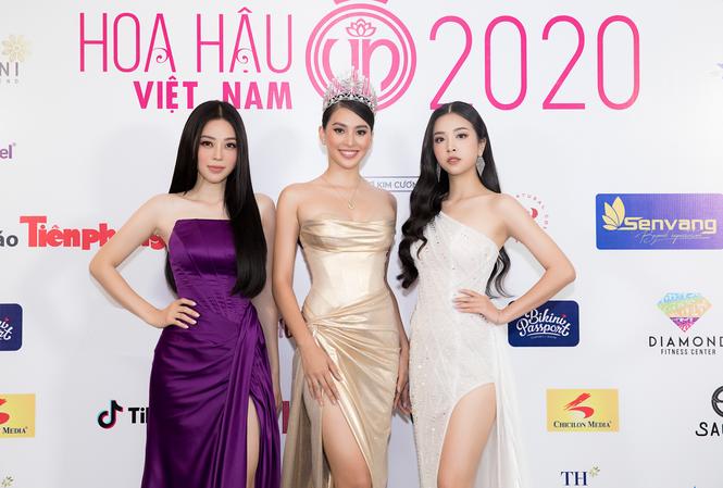 Top 3 Hoa Hậu Việt Nam 2018 xinh đẹp tại họp báo đánh dấu sự trở lại của HHVN 2020