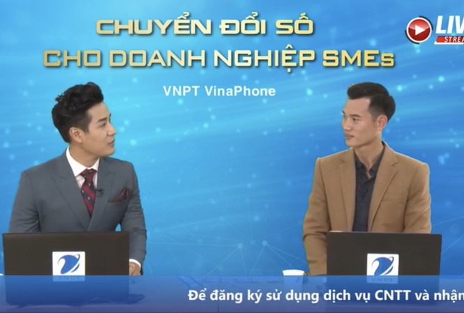 Livestream trên fanpage VNPT VinaPhone tìm khách hàng doanh nghiệp may mắn trong chương trình Đăng ký nhanh tay, vận may sẽ tới
