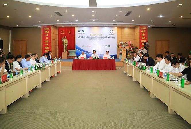 Toàn cảnh buổi ra mắt Hội đồng Doanh nghiệp Nông nghiệp Việt Nam