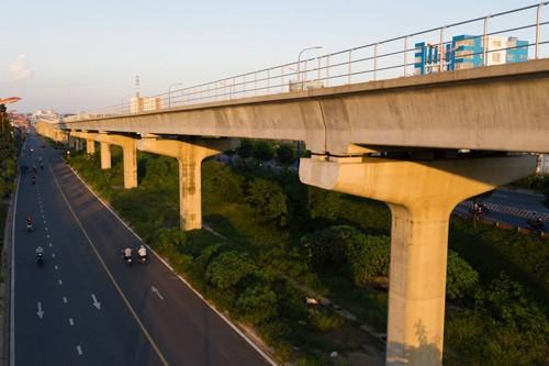 Tuyến Metro đầu tiên của TP HCM (Bến Thành - Suối Tiên) dự kiến hoàn thành vào cuối năm 2020. Ảnh: Hữu Khoa.
