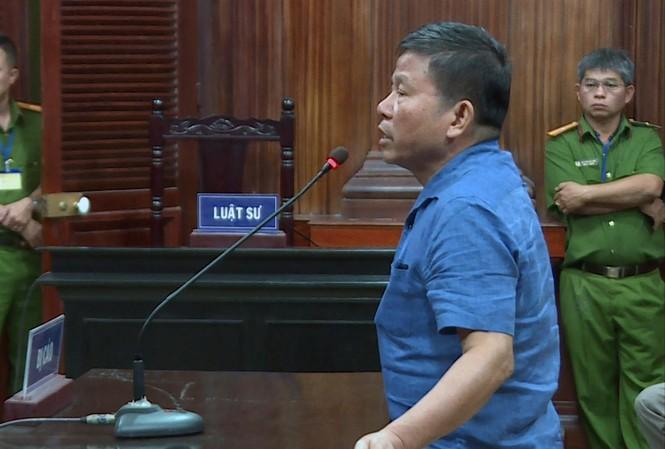 Bị cáo Châu Văn Khảm bị tuyên án cao nhất trong số 6 bị cáo với 12 năm tù Ảnh: T.C