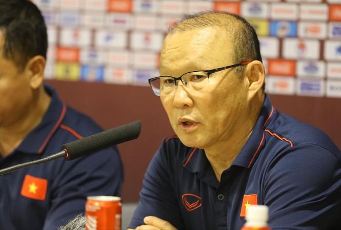 HLV Park Hang Seo khẳng định trận đấu với Thái Lan ngày 19/11 tới là trận đấu quan trọng nhất ảnh: NHƯ Ý