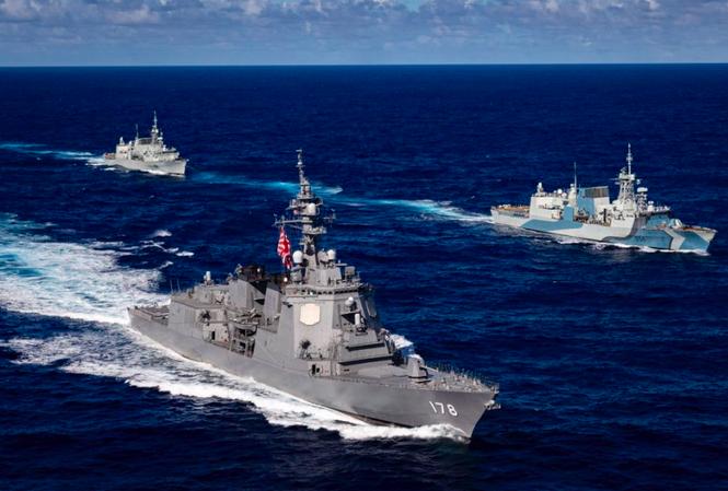Các tàu tham gia RIMPAC 2020. (Ảnh: Navy News)