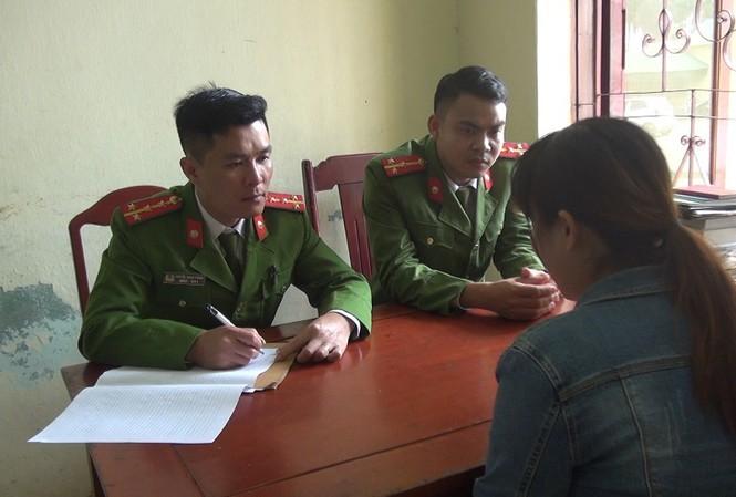Cơ quan công an làm việc với người xuất cảnh lao động trái phép