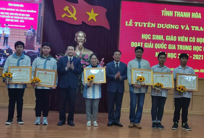 Thanh Hoá vươn lên thứ 5 số học sinh giỏi quốc gia THPT