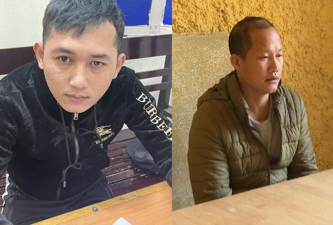 Hai đối tượng bị bắt là Quang (trái) và Hùng