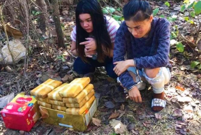 Nhóm buôn ma tuý truý người Lào bị trấn áp, bắt giữ khi tẩu thoát vào rừng
