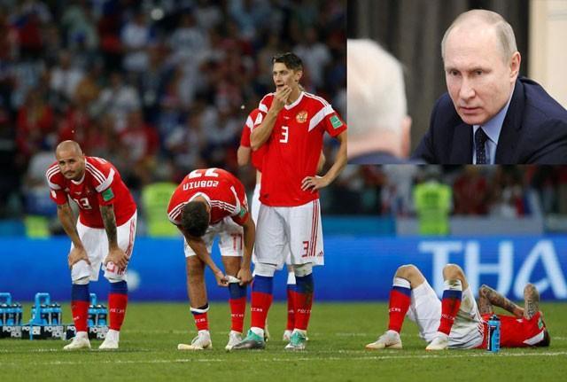 Dù bị loại, tuyển Nga vẫn được Tổng thống Putin khen ngợi
