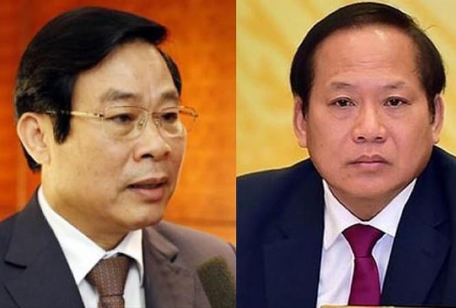 Từ trái qua, các ông Nguyễn Bắc Son, Trương Minh Tuấn