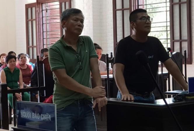 Kiên và Châu tại phiên tòa ngày 27/11