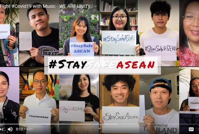 Các giọng ca đại diện ASEAN lan truyền thông điệp ở nhà để giữ an toàn vượt qua COVID-19