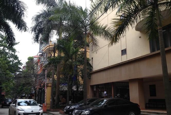 Tòa nhà công vụ tại Hoàng Cầu, quận Đống Đa, Hà Nội, nơi nguyên Thứ trưởng Bộ GD&ĐT Đặng Huỳnh Mai đang ở Ảnh: Như Ý