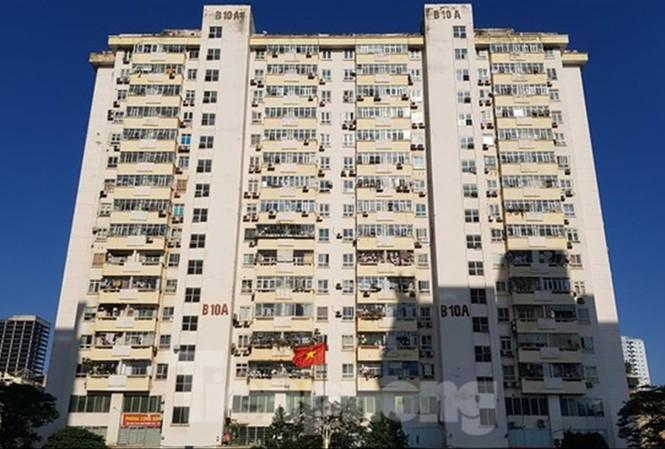 Tòa nhà B10A Nam Trung Yên - nơi xảy ra sự cố thang máy nghiêm trọng