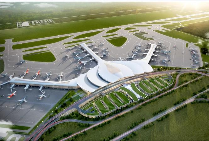 Phối cảnh tổng quan dự án sân bay Long Thành