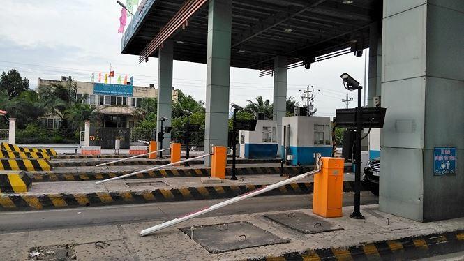 Trạm thu phí tuyến cao tốc TPHCM - Trung Lương hiện vẫn dừng hoạt động.