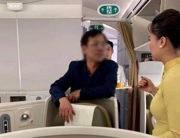 Hành khách Vũ Anh Cường – người có hành vi sờ soạng khách nữ trên khoang thương gia của chuyến bay VN253.