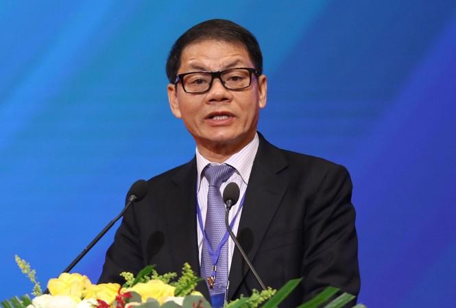 Ông Trần Bá Dương, Chủ tịch HĐQT Thaco Group chia sẻ tại Hội nghị Thủ tướng với doanh nghiệp - Ảnh: Như Ý