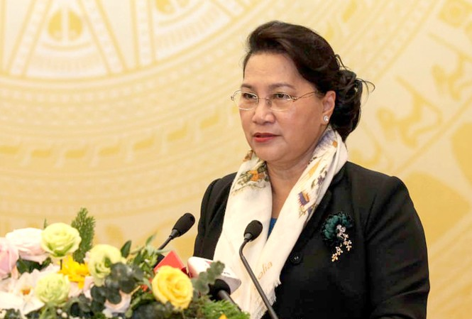 Chủ tịch Quốc hội Nguyễn Thị Kim Ngân phát biểu chỉ đạo tại Hội nghị triển khai nhiệm vụ năm 2020 của Bộ LĐ-TB&XH.