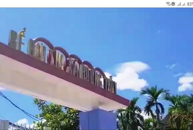 Bể bơi thị xã Hương Thủy, nơi vừa phát hiện thi thể một nam sinh tại đây