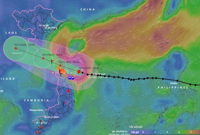Bão 13 dữ dội nhất từ đêm nay đến sáng mai, nguy cơ ngập lụt lớn