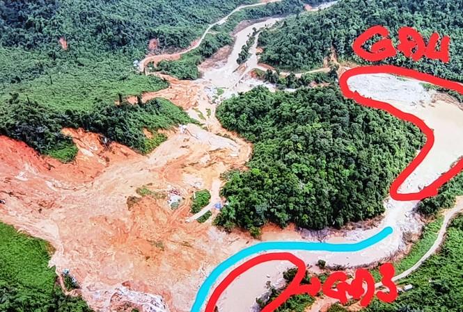 Vị trí của bước tìm kiếm đầu tiên trong giai đoạn 4 trên sông Rào Trăng đã được đề xuất, khoanh vùng.