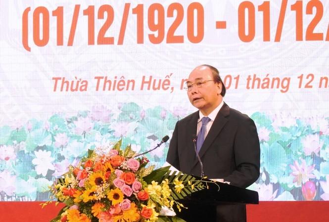 Đọc diễn văn kỷ niệm, Thủ tướng Chính phủ Nguyễn Xuân Phúc đã nêu bật những mốc son trong cuộc đời hoạt động cách mạng đầy oanh liệt, vinh quang của Chủ tịch nước, Đại tướng Lê Đức Anh.