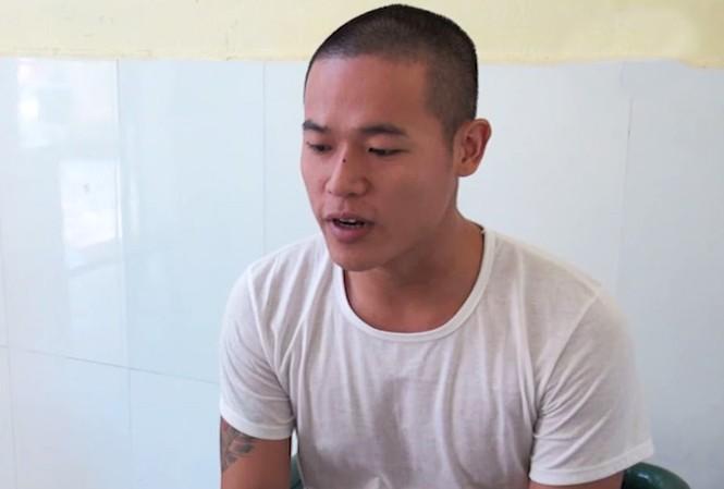 Nguyễn Hữu Long tại cơ quan công an. Ảnh: CTV