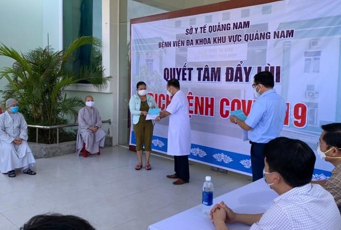 Các bệnh nhân ở Quảng Nam điều trị khỏi và xuất viện sáng nay