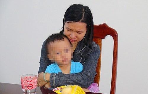 Nguyễn Thị Tuyết Trinh tại cơ quan công an. Ảnh CTV