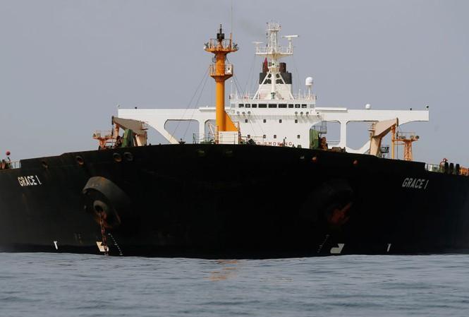 Tàu chở dầu Grace 1 của Iran. Ảnh: Reuters