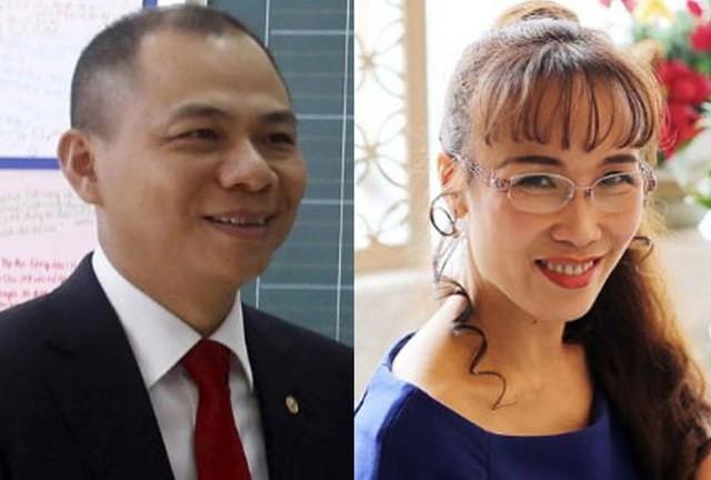 Ông Phạm Nhật Vượng và bà Nguyễn Thị Phương Thảo là hai tỷ phú USD giàu nhất Việt Nam