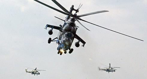 Trực thăng tấn công Mi-24 của Nga. Ảnh: AP