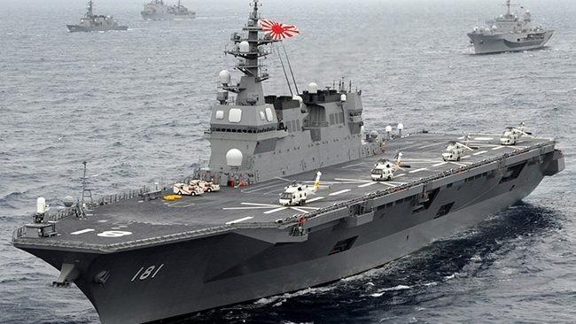 Tàu chiến lớn nhất của Nhật Bản Izumo. Ảnh: Manila Livewire
