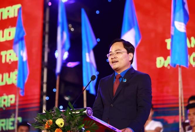 Chủ tịch Ủy ban Trung ương Hội Liên hiệp thanh niên Việt Nam khóa VIII Nguyễn Anh Tuấn. Ảnh: Đức Văn
