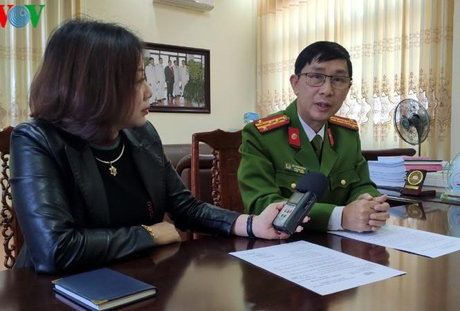 Đại tá Bùi Xuân Phong, Thủ trưởng Cơ quan Cảnh sát điều tra, Phó Giám đốc Công an tỉnh Lai Châu.