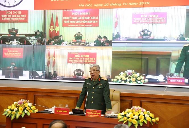 Thượng tướng Nguyễn Chí Vịnh phát biểu tại hội nghị