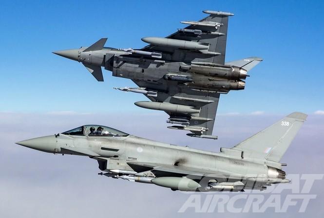 Máy bay chiến đấu tấn công đa nhiệm vụ Typhoon. Ảnh: Crown