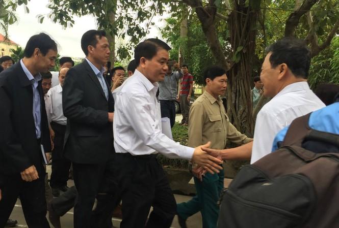 Chủ tịch UBND TP Hà Nội Nguyễn Đức Chung từng có cuộc đối thoại với người dân Đồng Tâm