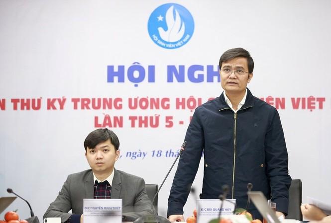 Anh Bùi Quang Huy, Bí thư thường trực T.Ư Đoàn, Chủ tịch T.Ư Hội SVVN chủ trì Hội nghị Ban thư ký Hội Sinh viên Việt Nam lần thứ 5, khóa X