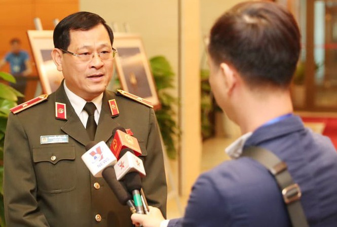 Thiếu tướng Nguyễn Hữu Cầu, Giám đốc Công an tỉnh Nghệ An. Ảnh Như Ý