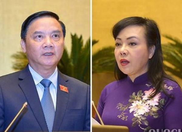 Quốc hội miễn nhiệm và phê chuẩn miễn nhiệm ông Nguyễn Khắc Định, bà Nguyễn Thị Kim Tiến