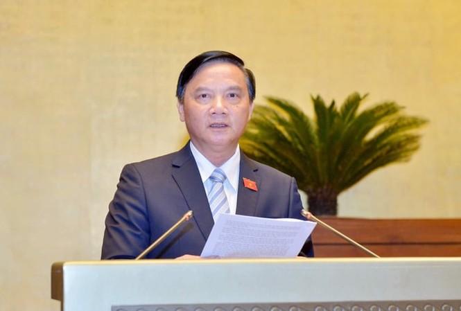 Chủ nhiệm Uỷ ban Pháp luật Nguyễn Khắc Định. Ảnh Như Ý