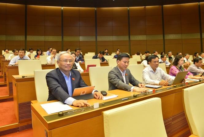 Quốc hội biểu quyết thông qua dự thảo nghị quyết. Ảnh Như Ý