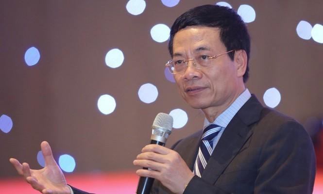 Bộ trưởng Bộ TT&TT Nguyễn Mạnh Hùng. Ảnh IT